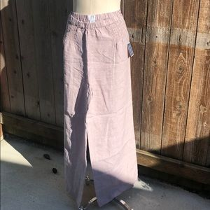 Wide Leg NWT light pinkish beige pants M
